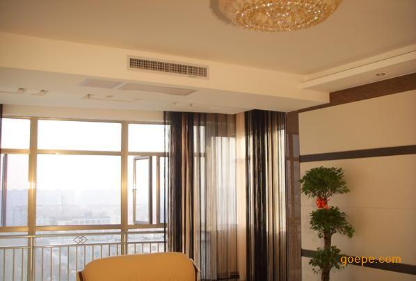 中央空调出风口配欧式吊顶大厅