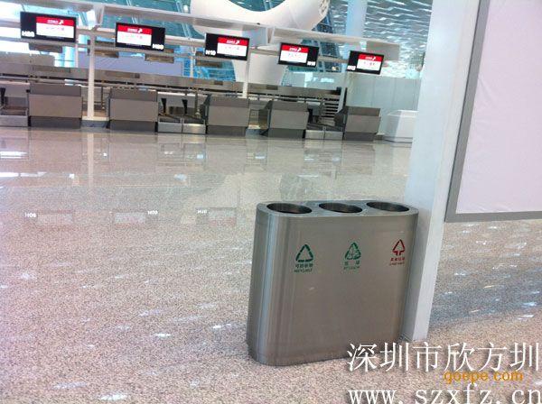 深圳宝安机场垃圾桶工程介绍-环保技术-谷瀑环保设备