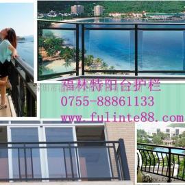 夹胶玻璃阳台护栏 美观气派更环保 房地产楼盘楼房首选