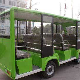 海口四轮电动11坐封闭观光车,旅游景点观光车价格