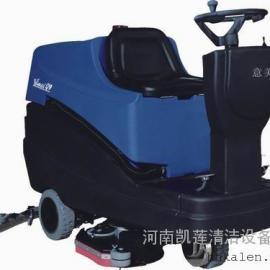 驾驶式路面洗地吸干机|洛阳自走式洗地机