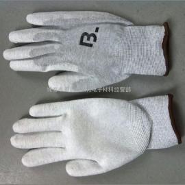 厂家批发防静电碳纤维PU涂掌手套