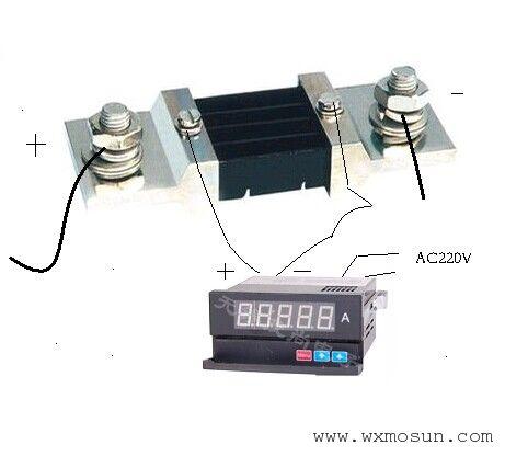 分流器和直流电流表的接线图-环保技术-谷瀑环保设备