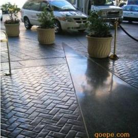 碑林混凝土压花路面/西安水泥压模地坪模具/莲湖彩色压印地面