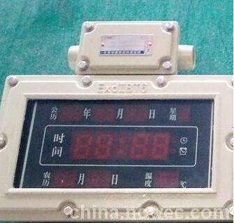 """防爆转接器上标有""""dc5v""""的 接线端子连接到防爆数字钟内标有 的端子上"""