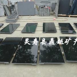 厂家直销河北黑花岗岩石材 河北黑台面板 河北黑毛光板