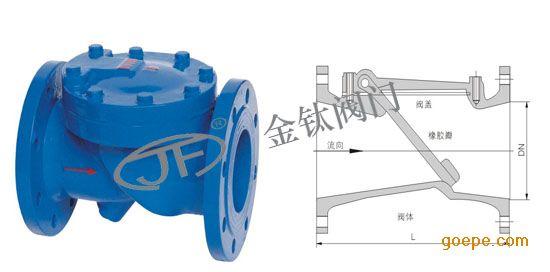 优质hc44x(sfcv)橡胶瓣止回阀厂家【金钛阀门】供应图片