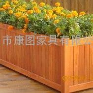 花箱厂家专业定制木质防腐木花箱 街道绿化园林移动花箱组合