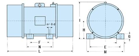 天腾系列振动电机结构示意图