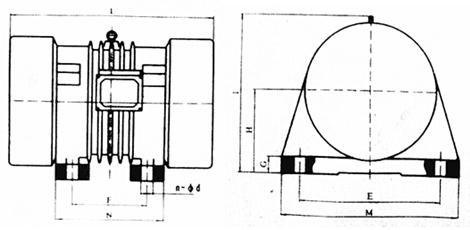 4kw3000转振动电机/三相异步给料机振动器/皮带输送