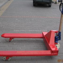 深圳叉车、鸿福加宽纸筒拖板车