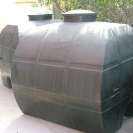 厂家供应2吨卧式水箱 大号塑料水箱 牛筋料塑料水塔