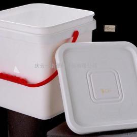 一诺10升-005方形塑料桶,食品级出口桶10L方桶