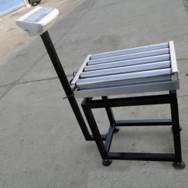 不锈钢带报警滚筒秤,500公斤电子滚轮秤