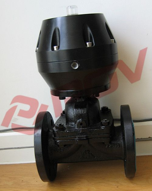 铸钢衬胶气动隔膜阀图片