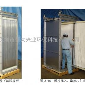 医院污水处理MBR工艺三菱MBR膜组件中空纤维膜片供货