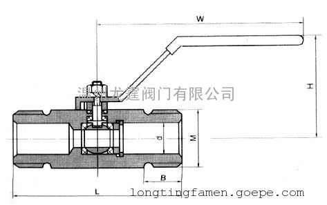 ss316/1cr18ni12mo2ti q21f广式外螺纹304球阀的龙霆主要连接尺寸图片