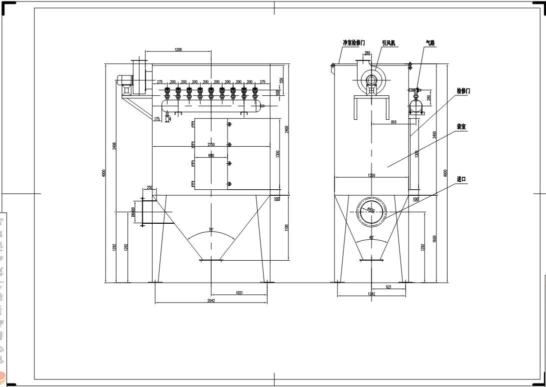 单位专供图片除尘器厂家标高除尘器煤矿,脉冲的图纸尺寸厂家_袋式图片