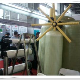 地下水除铁锰玻璃钢过滤罐 工业10吨锅炉软化水玻璃钢罐设备