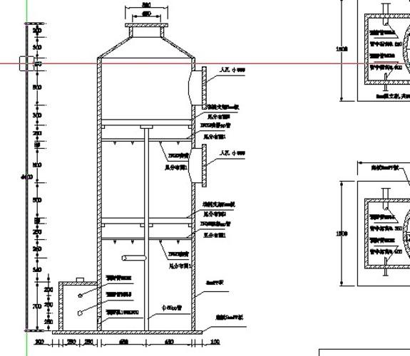 厂家供应车间废气处理成套设备 pp喷淋塔 酸雾酸碱废气净化塔
