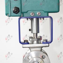 固定式电动对夹球阀 Q974H-25C-DN65