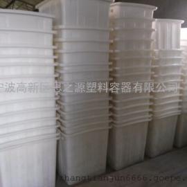 厂家供应加厚全新料300升塑料方箱塑料水箱周转箱