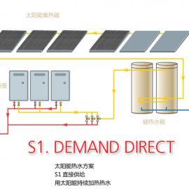 太阳能燃气并联系统锅炉工程 学校、部队洗浴