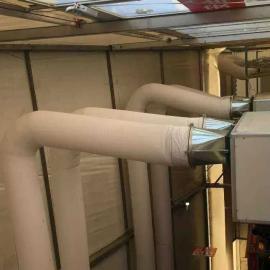 专用布袋布风管阻燃风管纤维织物布风管冷风布风管风机管道