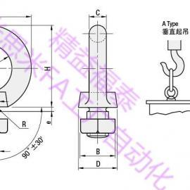 连接件螺栓MISUMI品牌品质SCHI16起重吊环螺栓日本