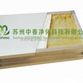 中春50mm玻镁岩棉彩钢复合板 高效洁净玻镁岩棉彩钢板 防火玻镁岩