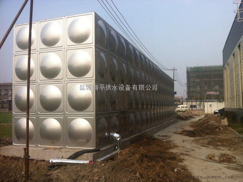 供应泰安各种规格不锈钢水箱 地埋水箱 盐城润平质优价优