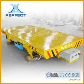 港口装备低压轨道供电地轨平板车自动化电动平车