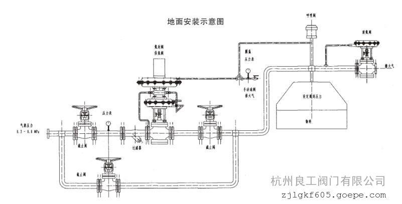 zzdq超纯水系统氮封阀安装示意图图片