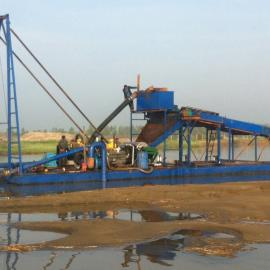 吸铁船,强磁板式抽沙吸铁船,强磁板选铁船,铁粉船