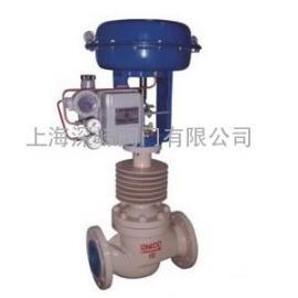 ZJHM气动套筒带散热片调节阀,气动高温型调节阀