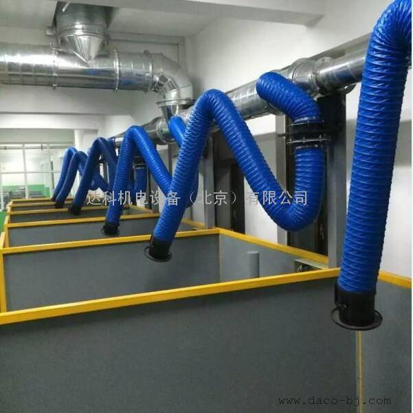 厂家供应沧州地区160mm除尘环保设备专用PVC伸缩软管