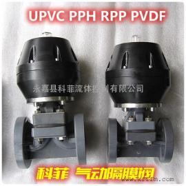 气动塑料隔膜阀UPVC/RPP/PVDF