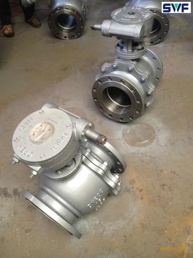 q341f铸钢涡轮球阀,良工阀门,法兰铸钢球阀图片