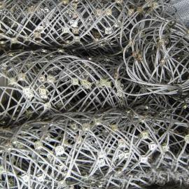 张家界主动边坡防护网*8号勾花网-挂岩石-护坡的支护网