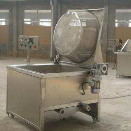 油炸食品机械全自动半自动燃气油炸锅炸制鸡叉鸡柳鸡排质量保证