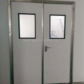无锡彩钢板门 生物安全室彩钢板夹芯门 彩钢板门厂家