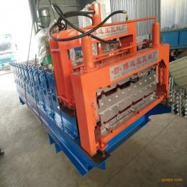 全自动彩瓦机械840900双层压瓦机博远厂家直销