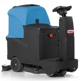 地下车库用驾驶式洗地机 电瓶驾驶式全自动洗地车