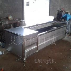 艾斯科机械毛刷清洗烘干流水线成套设备清洗土豆胡萝卜