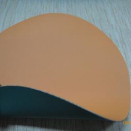 0.6mm桔色PVC夹网布重型防化服面料