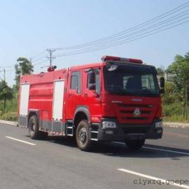 豪沃8吨水罐泡沫消防车