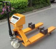 2吨带电子秤的叉车 2t可以称重量的叉车 手动液压地牛秤