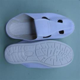 SPU底白色四眼鞋 无尘透气帆布四眼鞋