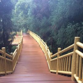 公园护栏仿木漆五湖仿木喷漆