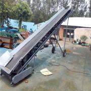 六九重工玉米粒小麦装车输送机Lj8带防尘罩圆管支架装货用皮带机dy800